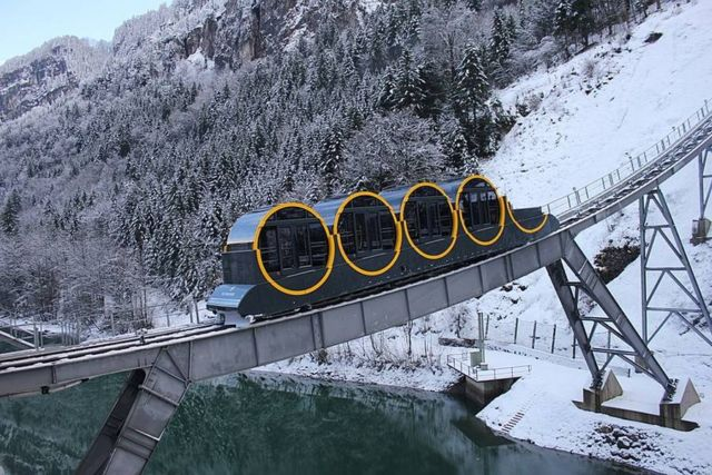 World's steepest funicular railway