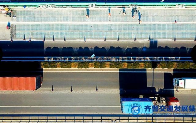 1 km Solar Road opens in China