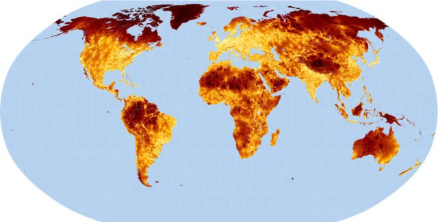 A global map on Travel time to major Cities