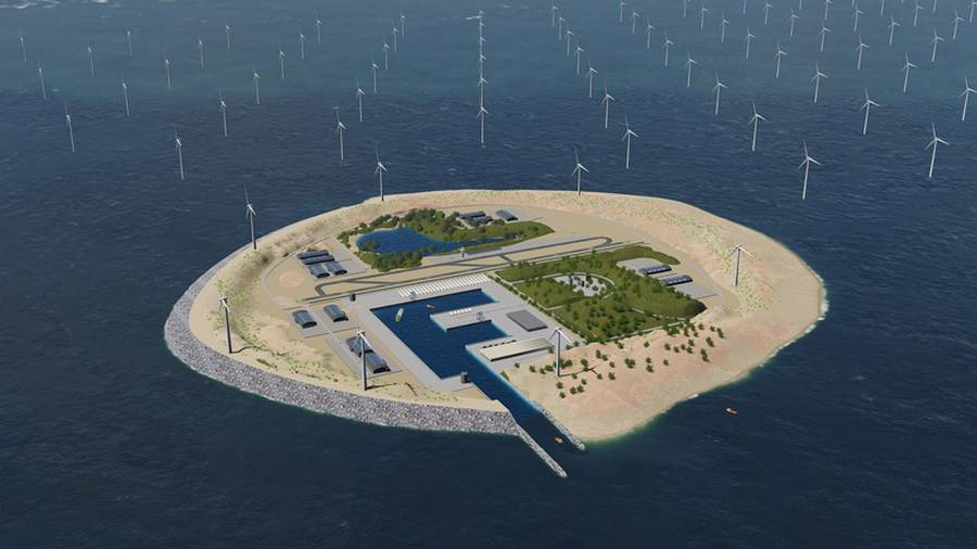 Artificial Island will Collect Wind Energy