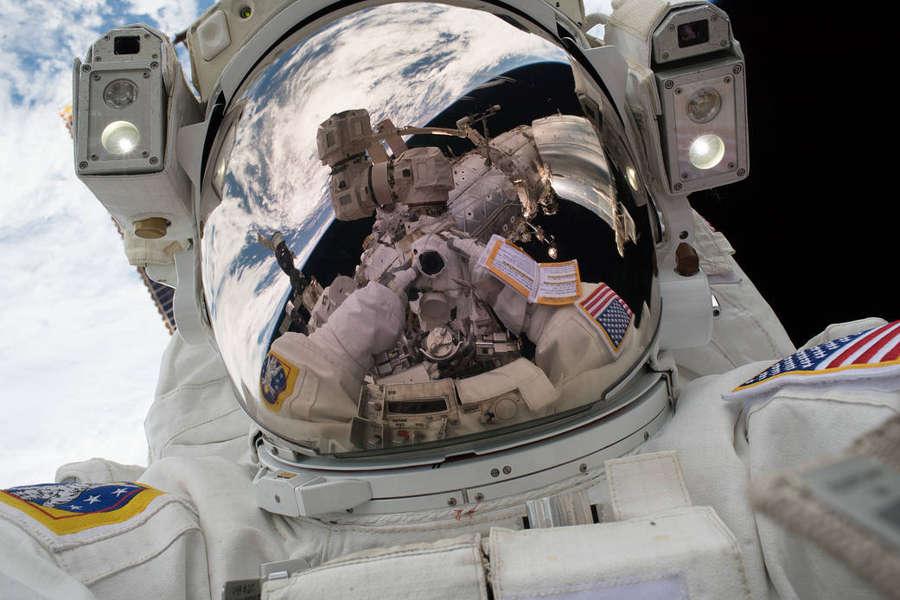 Astronaut's 'Space-Selfie'