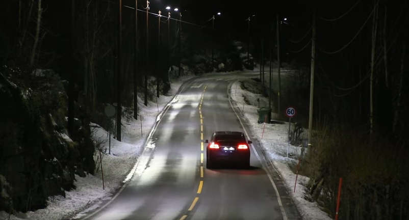 Energy saving auto Dimming Street Lights