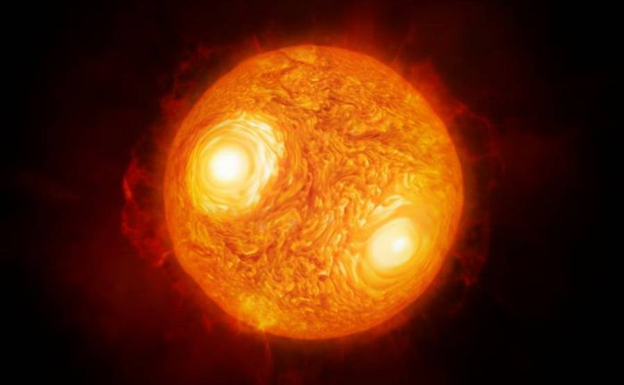First detailed images of surface of Giant Star