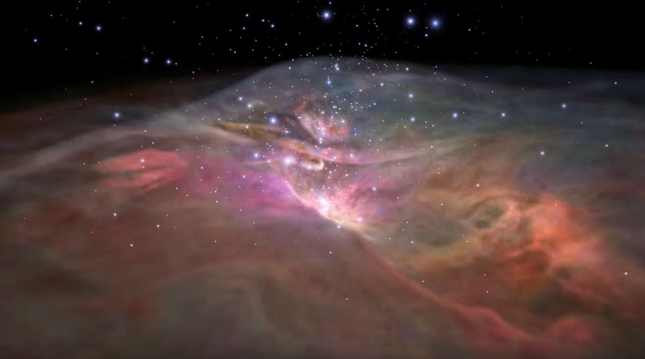 Flight through Orion Nebula