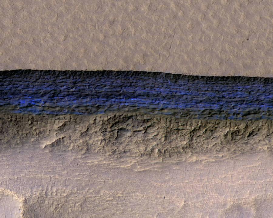 Huge underground Ice sheets found on Mars