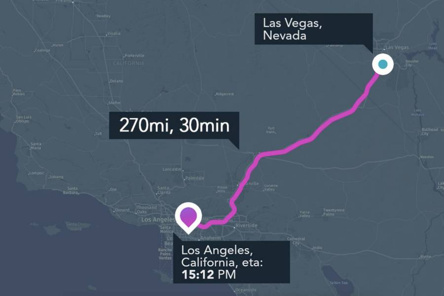 Hyperloop One Navigation App
