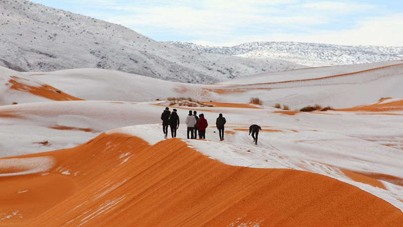 It Snowed in the Sahara