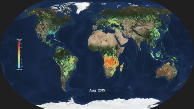 NASA's 'Fire map' of Earth