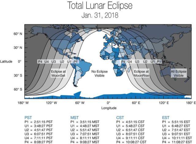 Super Blue Blood Moon Total Lunar Eclipse