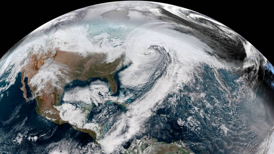 The Unreal Bomb Cyclone from Space