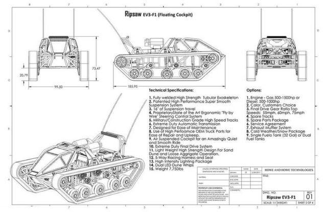 EV3-F1 Personal Tank