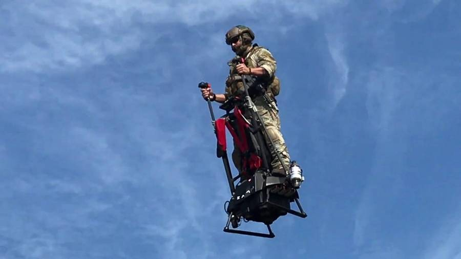 The jet-powered aerial Segway