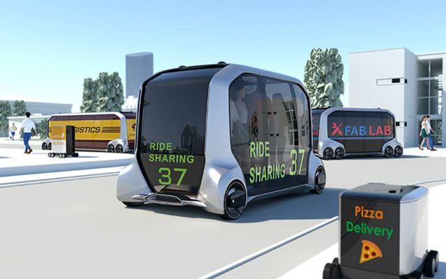 Toyota's Autonomous Electric Store on wheels