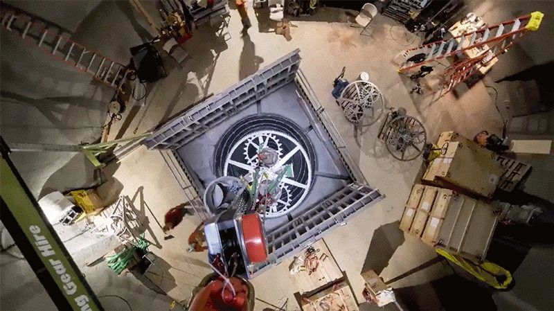 10,000 Year Clock Installation Begins – video