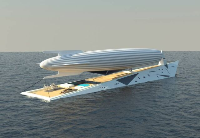 Dare to Dream Superyacht with Airship