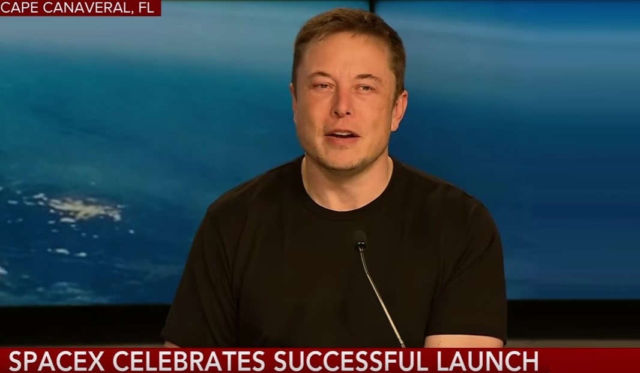 Elon Musk celebrates successful Falcon Heavy Rocket Launch