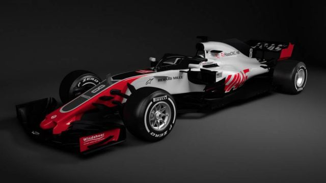 First Halo-equipped F1 race car