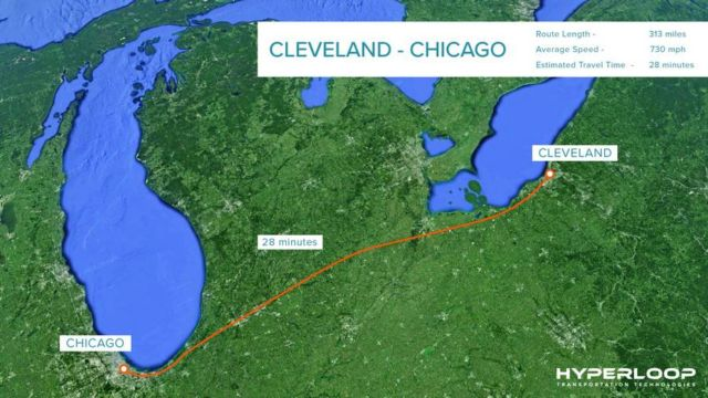 Cleveland to Chicago in 30 minutes