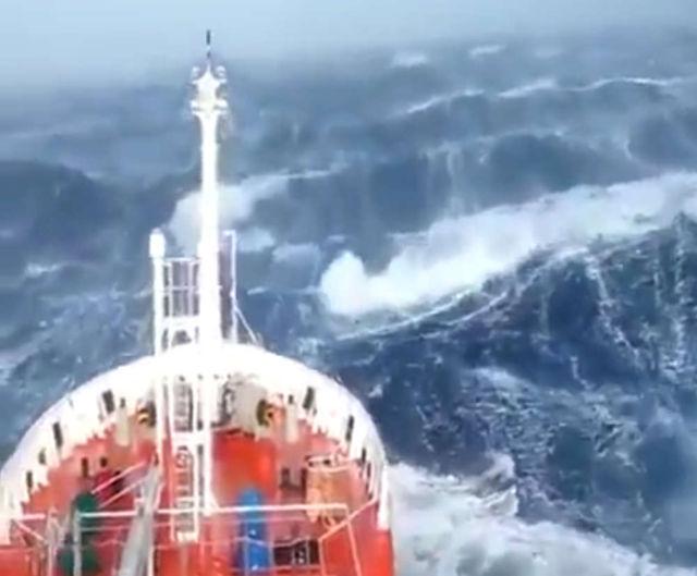 The North Sea it can be pretty rough