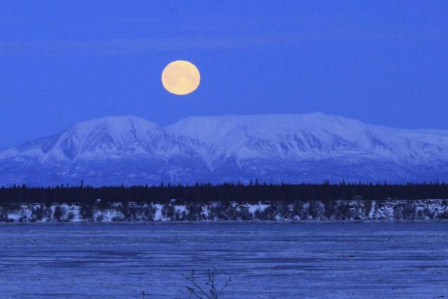 Lunar Trifecta in Anchorage, Alaska. Dan Joling