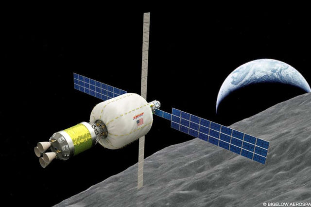 Bigelow's B330 module in orbit