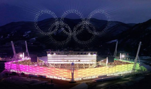 World-Record Drone Show in Winter Olympics