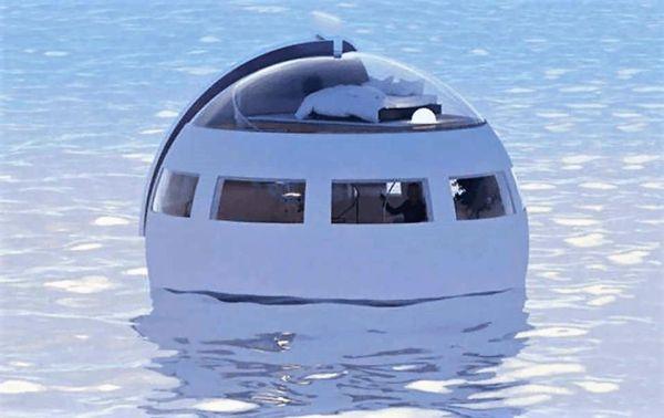 Floating futuristic Hotel Capsule