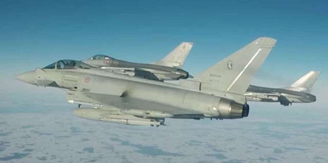 Italian Typhoons at work