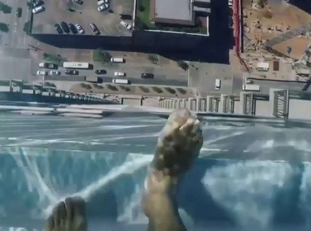 The Glass Bottom Pool on top of 40 floor building
