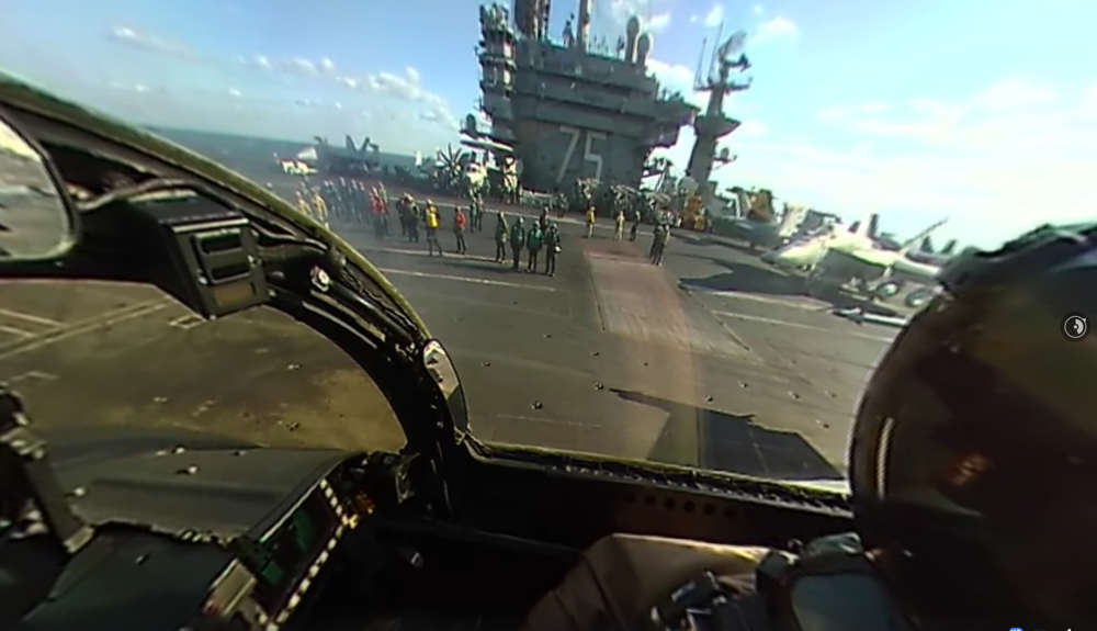 360° View from cockpit of F 18 Super Hornet
