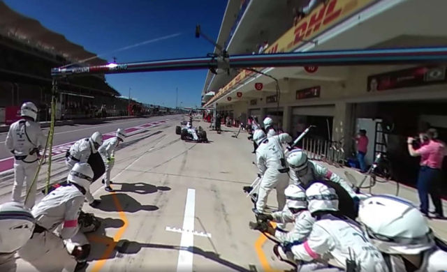 A 360 view of a Live F1 pit stop