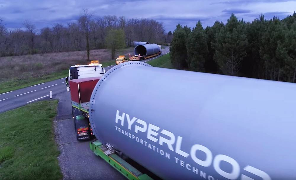 First Full-Scale Hyperloop Tubes arrive
