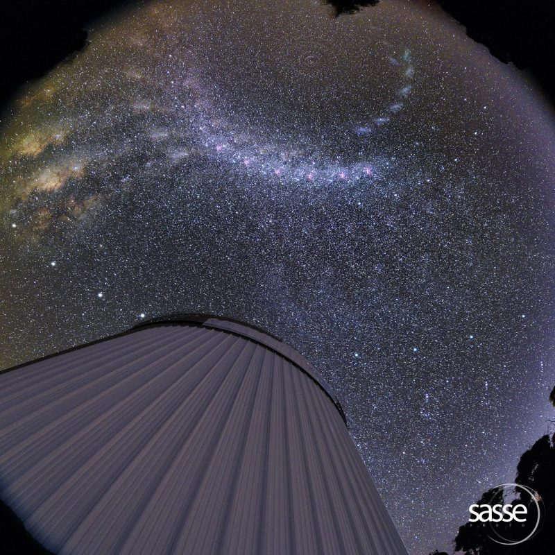 Milky Way spinning