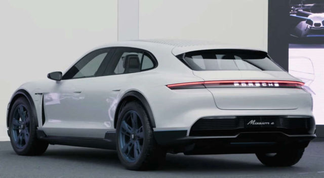 The design of the Porsche Mission E Cross Turismo