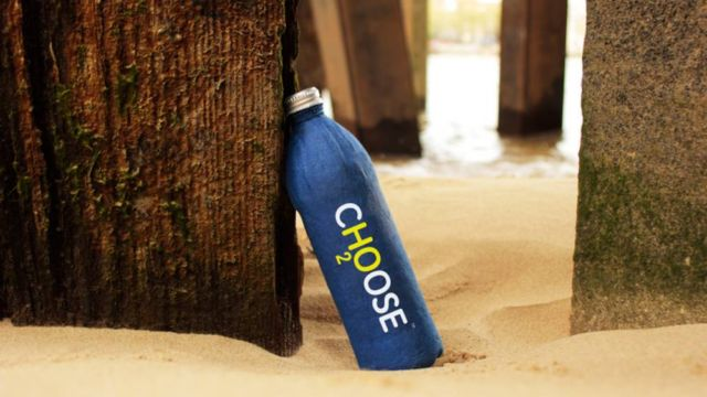 A Water Bottle that fully decomposes in 3 weeks