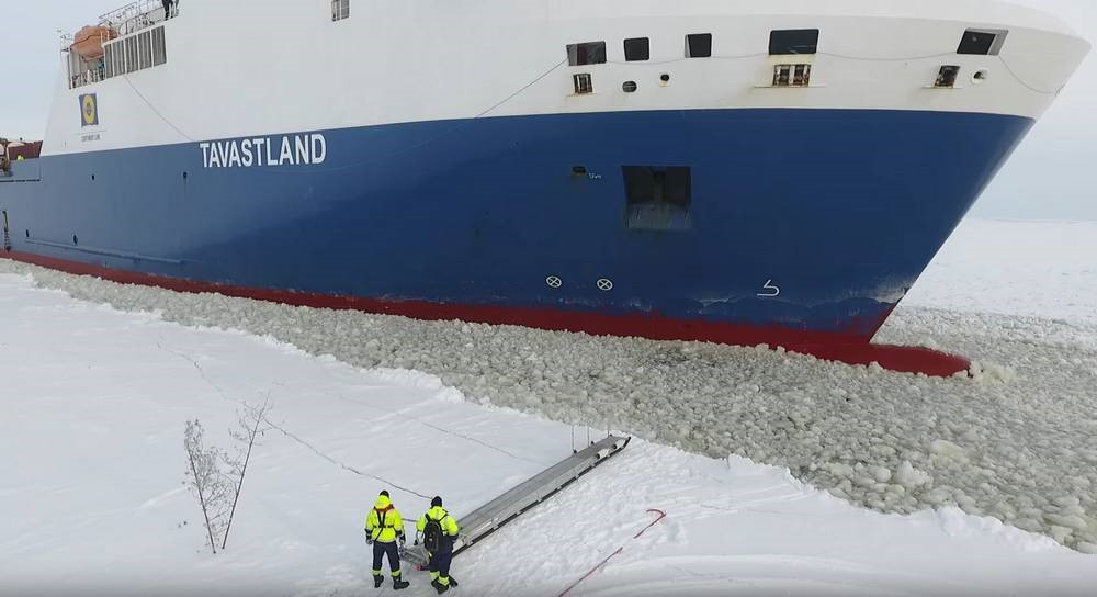 Boarding a moving ship