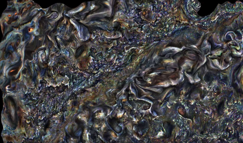Hypnotic Animation of Jupiter's giant clouds