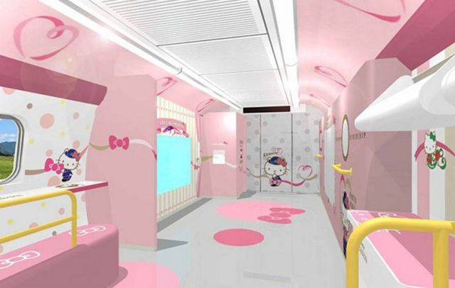 Japan's Hello Kitty bullet train (3)