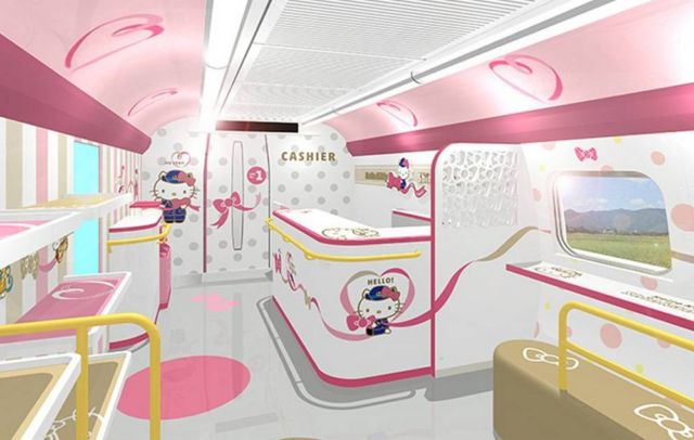 Japan's Hello Kitty bullet train (2)