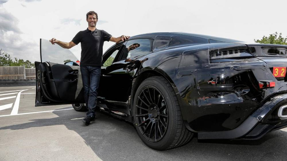 Mark Webber test drives the new Mission E