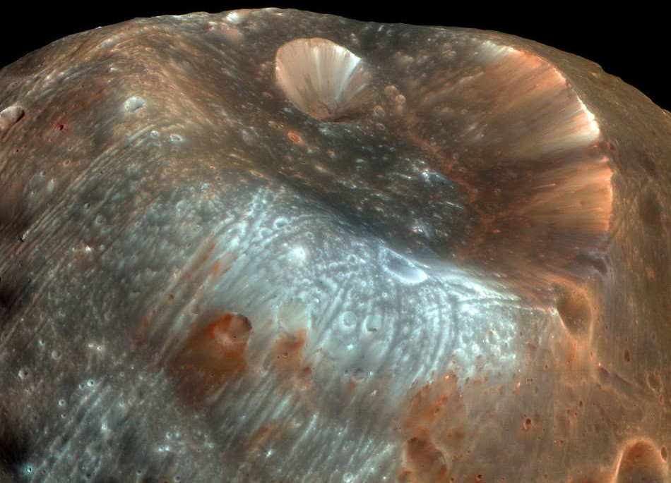 Stickney Crater in Phobos