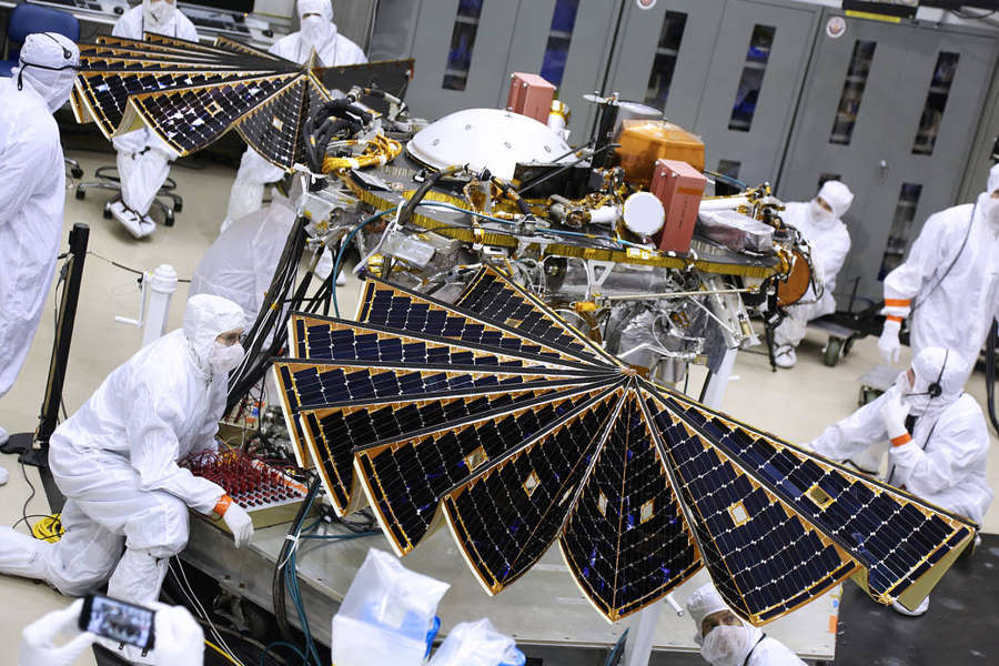 Testing the InSight Mars Lander's Solar Arrays