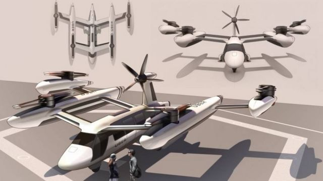 Uber reveals its Self-flying Taxi