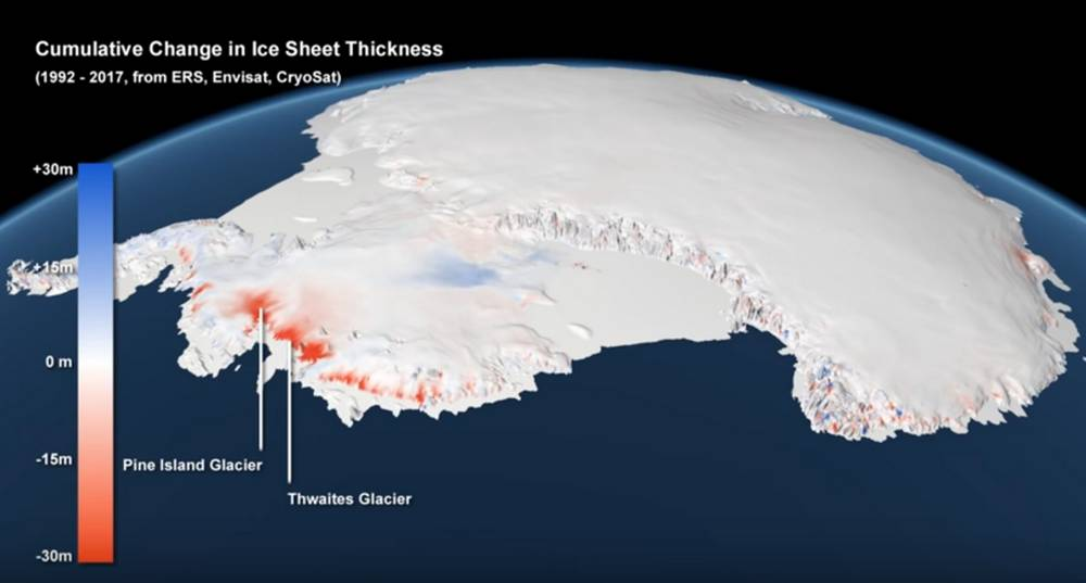 Antarctic ice is now melting three times faster