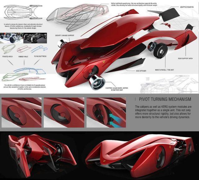 Ferrari Gothica Rossa Supercar concept (4)