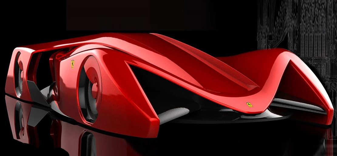 Ferrari Gothica Rossa Supercar concept (1)