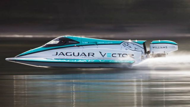 Jaguar Vector Racing Break World Electric maritime speed record