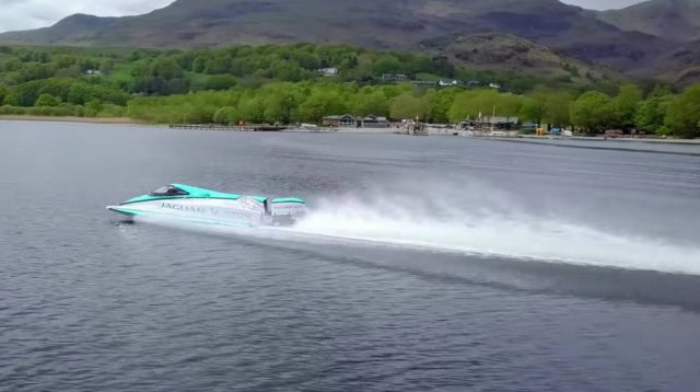 Jaguar Vector Racing Break World Electric maritime speed record