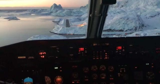 Landing in Maniitsoq, Greenland