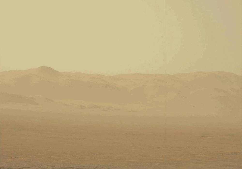 Martian Dust Storm Grows Global